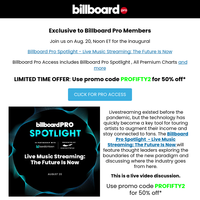 EXCLUSIVE - Billboard Pro Spotlight - Live Music Streaming: The Future Is Now