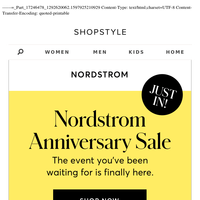 JUST IN: Nordstrom Anniversary Sale