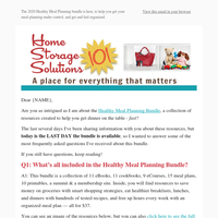 Everything you wanted to know about the Healthy Meal Planning Bundle