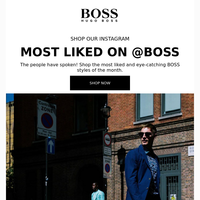 Most Liked on Instagram @BOSS
