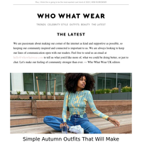 8 simple autumn outfits that will make getting dressed easy