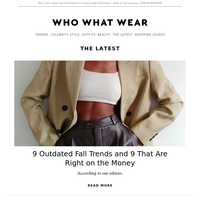 9 outdated fall trends and 9 that are right on the money