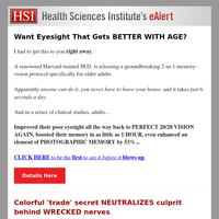 Want Eyesight That Gets BETTER WITH AGE?