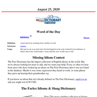 Word of the Day, August 25, 2020