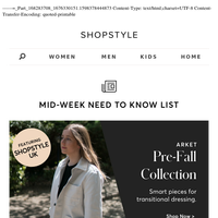 JUST IN - Pre-Fall Styles, End Of Summer Sales (+ More)