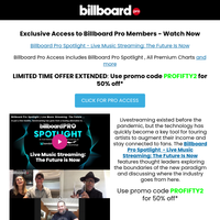 Exclusive Offer: Access Billboard Pro Spotlight Now