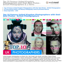 Top 10 Famous United Kingdom Photographers with their Best Photos - British Photographers & 2 items