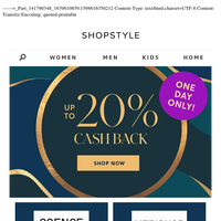 20% Cash Back | One Day Only!