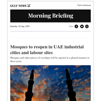 Mosques to reopen gradually in UAE industrial cities ; UAE announces work from home policy for working mums