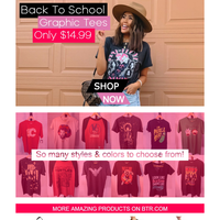 📣 Back To School Graphic Tees @ $14.99