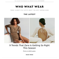 9 trends that Zara is getting so right this season