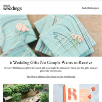 6 Wedding Gifts No Couple Wants to Receive