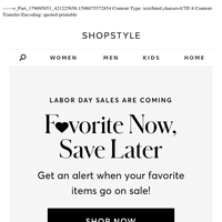 Labor Day Sales are Coming...