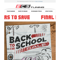 Don't Miss The Bus - Final Hours - Back To School Sale