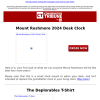 NEW: Mount Rushmore 2024 Desk Clock
