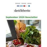 September 2020 Newsletter from David Lebovitz