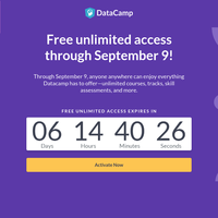 Congrats: Free Unlimited Access through Sept. 9!