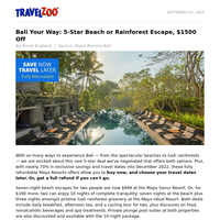 Bali Your Way: 5-Star Beach or Rainforest Escape, $1500 Off