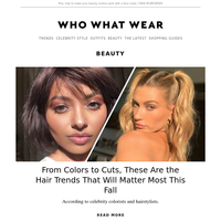 From color to cut, these hair trends will matter the most this fall