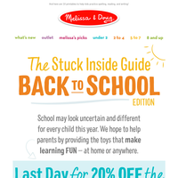 Your Back to School Sale ends at midnight.