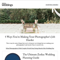 What Photographers Wish Couples Would Stop Doing Ahead of the Wedding Day