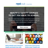 Back to school | Online courses in Health and Safety