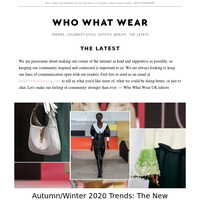 18 trends you need to know for autumn 2020