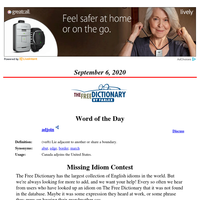 Word of the Day, September 6, 2020