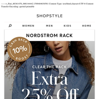 Extra 25% Off — Eileen Fisher, TopShop (+more)