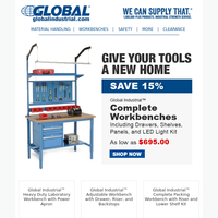 Labor Day Sale   Save 15% on workbenches