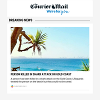 Fatal shark attack: Person killed on Gold Coast