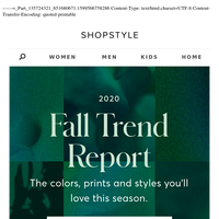 Just In: The Fall Trend Report