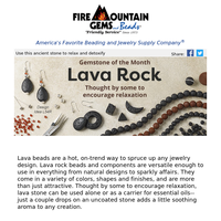 Newsletter for Jewelry Makers - The Wonders of Lava Rock