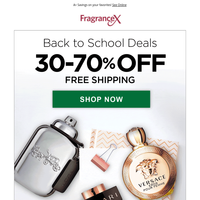 Back to School: 20-60% Off All Fragrances