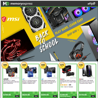 MSI Back to School 2020 Component Sale (Aug 13 - Sep 30)