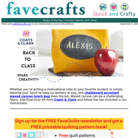 Spark creativity with this back-to-school sewing project!
