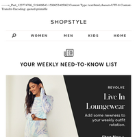 New In: Live In Loungewear, Fall Collections (+more)