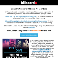 Last Chance: Access Billboard Pro Spotlight and Deep Dive Now