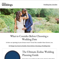 10 Things You Need to Double-Check Before Choosing a Wedding Date