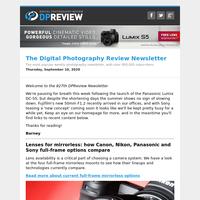 Digital Photography Review Newsletter: Thursday, September 10, 2020