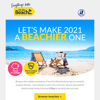 Let's make 2021 a beachier one 🏖️