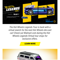 Exclusive Hot Wheels Legends Cars – ONLY on Walmart.com!