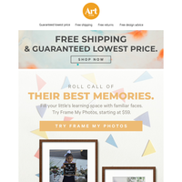 👦👧🧒Start a new school year with sweet memories by their side. Free shipping. Free returns. Free creative advice.📚