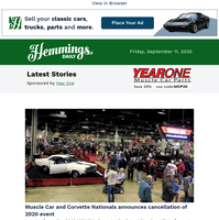 Hemmings Daily: Muscle Car and Corvette Nationals announces cancellation of 2020 event