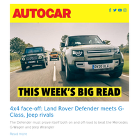 Land Rover Defender meets G-Class, Jeep rivals | The top 30 modern classic cars to buy | Autocar road test: Skoda Octavia Estate