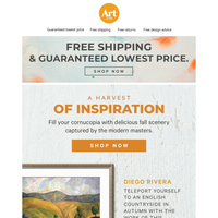 🖼️🍂See fall through the eyes of the modern masters. Free shipping. Free returns. Free creative advice.🧡 🖼️🍂