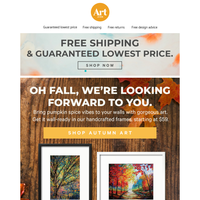 🍂🖼️🍂🖼️ Fill every wall with fall foliage! Free shipping. Free returns. Free creative advice. 🍂🖼️🍂🖼️