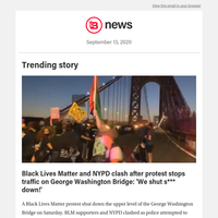 Black Lives Matter and NYPD clash after protest stops traffic on George Washington Bridge: 'We shut s*** down!'