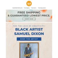 💖Your walls want to meet Black artist Samuel Dixon's art.🎨Free shipping. Free returns. Free creative advice.