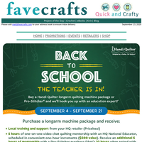 Get Back to School with One-on-One Longarm Quilting Education